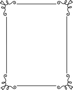 Free Frames | Simple Elegant Black Frame - Free Clip Art