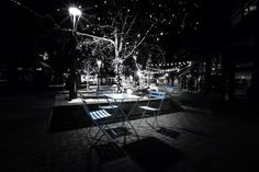Patio Tables in Old Town Fort Collins (2015)