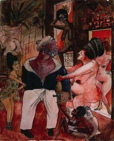 Otto Dix, Exotic Brothel, 1922