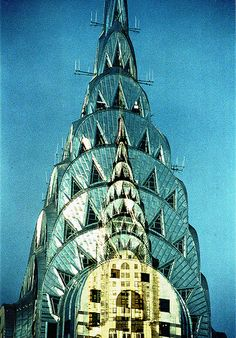 Chrysler Building Double Exposure Color Film Photograph - Done In Camera; New York City, NY