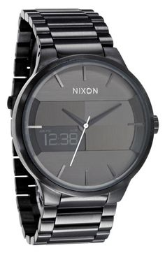 Nixon 'The Spencer' Bracelet Watch | Nordstrom  In hunt for a new black watch. This could be in the runnings for purchase!  ;-P