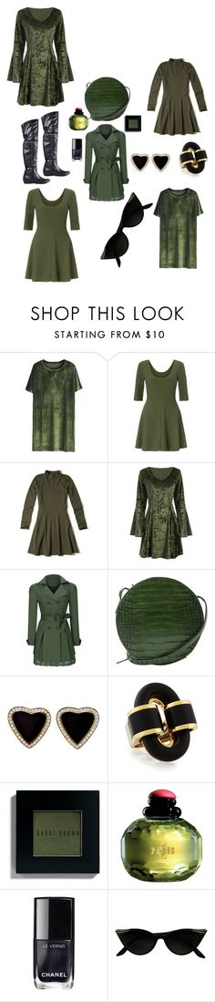 """""""4 Number Four On the Green"""" by michelle858 ❤ liked on Polyvore featuring Miss Selfridge, Hollister Co., WithChic, MANGO, Bobbi Brown Cosmetics, Yves Saint Laurent and Chanel"""