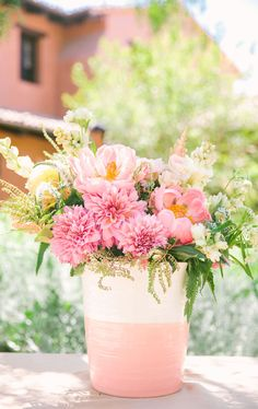 I love these pinks and the romantic chic feel of the supporting colors and décor. Really fits my romantic chic wedding idea. Floral Wedding, Wedding Colors, Wedding Bouquets, Wedding Flowers, Cut Flower Garden, Flower Farm, Floral Centerpieces, Floral Arrangements, Centerpiece Ideas