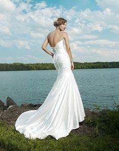 sexy wedding dress (back)