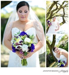 Purple and green bridal bouquet!