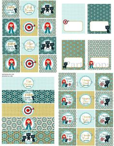 Digital Brave Party Package Brave Party Decoration by PartyPops