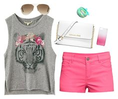 """""""Casual and comfy"""" by gkbliss on Polyvore featuring H&M, MICHAEL Michael Kors, J.Crew, Ray-Ban and Ruby Rocks"""