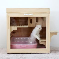 1000 images about cat litter box ideas on pinterest product list exercise rooms and korean style - Litter boxes for small spaces paint ...