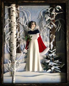 Snow White paper sculpture