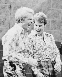 Steve Martin and Dan Aykroyd. Two wild & crazy guys.