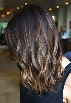 Brunette Highlights I like how it's subtle. I would want a deep rich red instead of the Carmel color