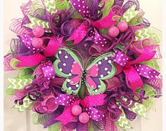 SPRING SALE-Flower Deco Mesh Wreath/Spring by CKDazzlingDesign