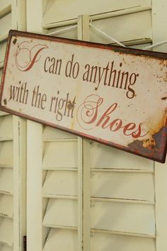 I can do anything with the right shoes ;-)  (via Liebesbotschaft: home stories)