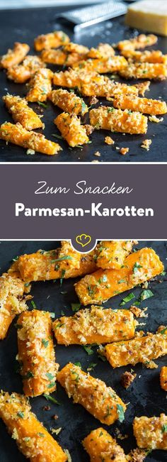 After-work snack: Roasted Parmesan carrots- Feierabendsnack: Geröstete Parmesan-Möhren Chips and Co. have had their day, because the roasted carrots in the Parmesan coat taste even better. So you can really enjoy the well-deserved end of the day. Healthy Snacks To Make, Snacks For Work, Healthy Meal Prep, Healthy Food, Eating Healthy, Grilling Recipes, Snack Recipes, Healthy Recipes, Snacks List
