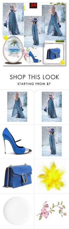 """Party Maxi Dress by EUGfashion"" by eug-fashion ❤ liked on Polyvore featuring Casadei, Gucci and EUGfashion"