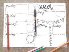 weekly journal week printable journaling planner addict