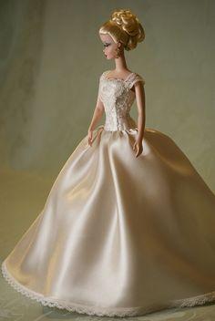 Barbie Bridal, Barbie Wedding Dress, Barbie Gowns, Barbie Dress, Wedding Dresses, Barbie Doll, Vintage Barbie Clothes, Doll Clothes, Poppy Parker