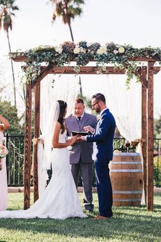 Custom built wedding ceremony arbor by my man.