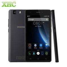 원래 3 그램 doogee x5 5.0 ''android 스마트 폰 mt6580 쿼드 코어 1.3 천헤르쯔 1 기가바이트 + 8 기가바이트 1280x720 2400 미리암페르하우어 배터리 듀얼 sim 휴대 전화