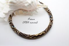 "Bead Crochet Rope Pattern - ""Gold Glamour"", Crochet Necklace, Beaded Bracelet…"