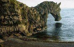 Horse Head Rock. Near Walaga Lake,  Bermagui - Australia (photoshoped version)