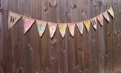 WELCOME HOME burlap banner for Military by tinkerscottage on Etsy, $24.00