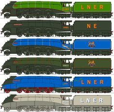 NYC Loco Company LNER A4s by Lapeer on DeviantArt Train Drawing, Ho Model Trains, Train Art, Engineering Technology, British Rail, Thomas And Friends, Ways To Travel, Steam Engine, Steam Locomotive