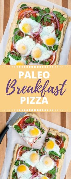 Paleo Breakfast Pizza  recipe - perfect for breakfast, lunch or dinner!