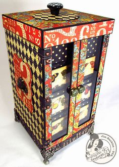 Box decorated with Graphic 45 card stock...created by Jim, The Gentleman Crafter...8042188695_fb94777168_z