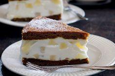 Hruškový cheesecake v medovníku