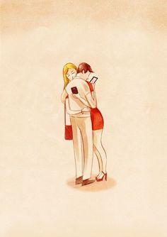 현대인의 삶을 풍자하는 일러스트 by Marco Melgrati - curatever | Vingle | 월페이퍼, 순수 예술