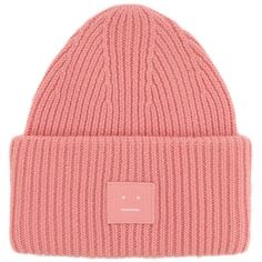 Pansy Cap (900 GTQ) ❤ liked on Polyvore featuring accessories, hats, pink, woollen caps, woolen hat, pink hats, acne studios and pink cap