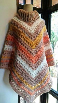 Our females' vests and find elegant quilted gilets of highest-quality, given to keep a person fashionably warmer on cool days.Crochet poncho with ribbed neck Poncho Au Crochet, Crochet Poncho Patterns, Crochet Scarves, Knit Crochet, Poncho Cape, Simply Crochet, Crochet Magazine, Crochet Fashion, Crochet Accessories
