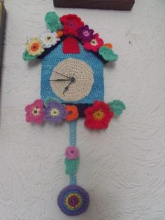 my crochet clock that i made from the womans weekly special