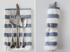 The Easiest Way to Make Cloth Napkins: Start With IKEA Dish Towels