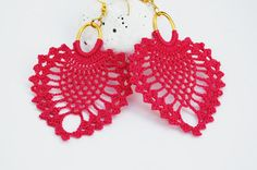 Crochet earrings  Large crochet earrings  Crochet earring