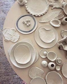 Janaki Larsen (@janakilarsen) • Instagram photos and videos Slab Ceramics, Kids Clay, Watercolor Leaves, Sgraffito, Ceramic Plates, Clay Art, The Past, Miniature, Create