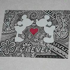 Art Drawings Sketches, Disney Drawings, Easy Drawings, Arte Disney, Disney Art, Dibujos Zentangle Art, Mandalas Drawing, Disney Coloring Pages, Zentangle Patterns