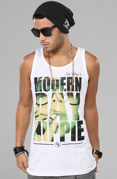 Moder Day Hippie - Tanktop (White) by JbonClothingCo.
