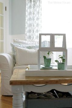 Make a fabulous French Decor Green House Terrarium Using Picture Frames