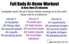 Full Body At-Home Bodyweight Workout - in less than 25 minutes - quick & effective!
