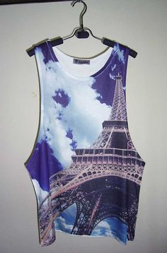 Eiffel Tower Shirt Eiffel Tower T Shirt Men Tank Top by PStopshop, $18.99