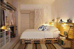 Arredare casa con i pallet - Camera da letto