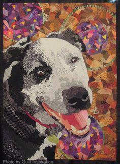 "Ruth McDowell Quilts Art | Best Friend , 43 x 59"", by Barbara Yates Beasley"
