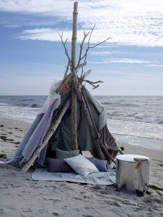 Tipi on the beach