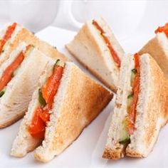 Smoked Salmon Sandwiches with Capers and Red Onion Relish
