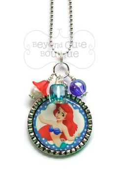 ARIEL Little Mermaid NECKLACE /// Keychain by BeyondCuteBoutique
