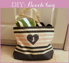 Linen, Lace, & Love: DIY: Beach Bag