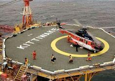 Oil Rig Photos - Arriving on the Kittiwake Platform Oil Field Jobs, Oil Rig Jobs, Oilfield Life, Oil Platform, Gas Company, Drilling Rig, Work Site, Big Oil, Oil Industry
