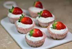 Despite their amazing appearance, these stawberry cheesecakes taste incredible.